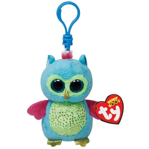 Ty Beanie Boos Opal The Owl Glitter Eyes Plastic Key