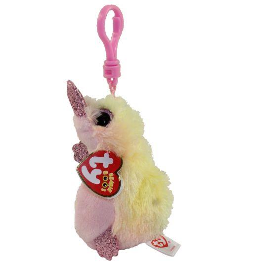 3c76d079c8e88 TY Beanie Boos - PETUNIA the Rainbow Platypus (Glitter Eyes)(Plastic Key  Clip - 3 inch)  BBToyStore.com - Toys