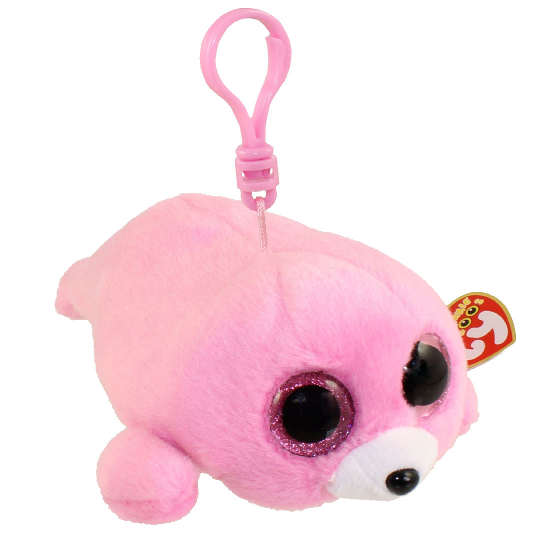 TY Beanie Boos - PIERRE the Seal (Glitter Eyes) (Plastic Key Clip)