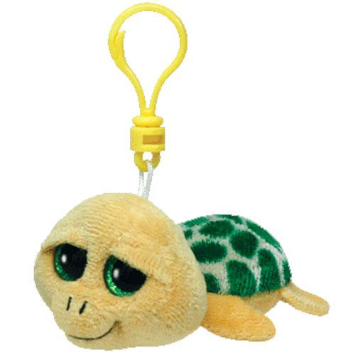 TY Beanie Boos - POKEY the Yellow Turtle (Glitter Eyes) (Plastic Key Clip -  3 inch)  BBToyStore.com - Toys 9b5540274ee3