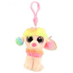 8b010a0d23a TY Beanie Boos - RAINBOW the Poodle (Glitter Eyes) (Plastic Key Clip -