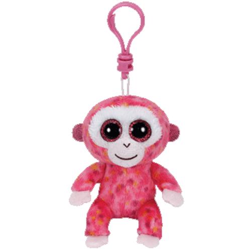 Ty Beanie Boos Ruby The Pink Monkey Glitter Eyes
