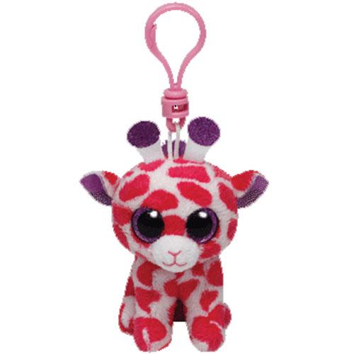 76bb31680aa TY Beanie Boos - TWIGS the Pink Giraffe (Glitter Eyes) (Plastic Key Clip
