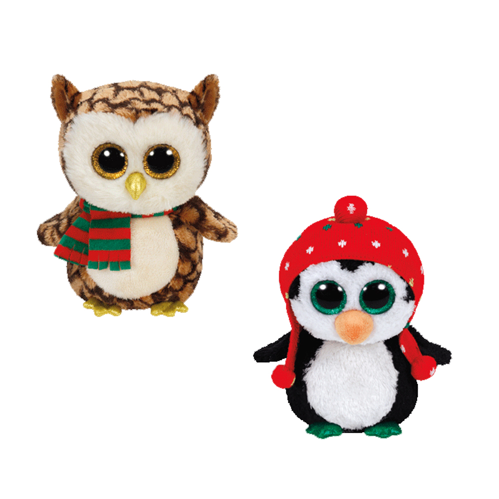 TY Beanie Boos - SET of 2 Christmas 2015 Releases (6 inch) (Wise   Freeze)   BBToyStore.com - Toys 427b61a469b