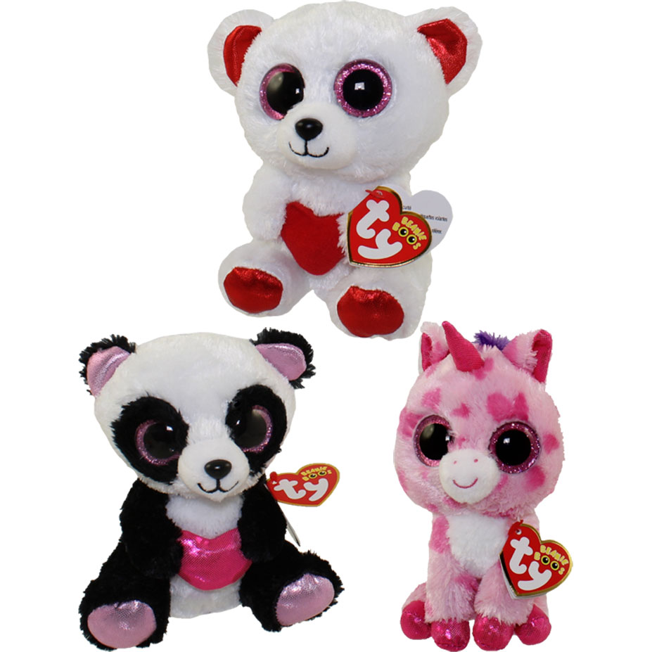 TY Beanie Boos - SET of 6 Valentines 2016 Releases (6 inch) (Cutie aa44d08c1fc