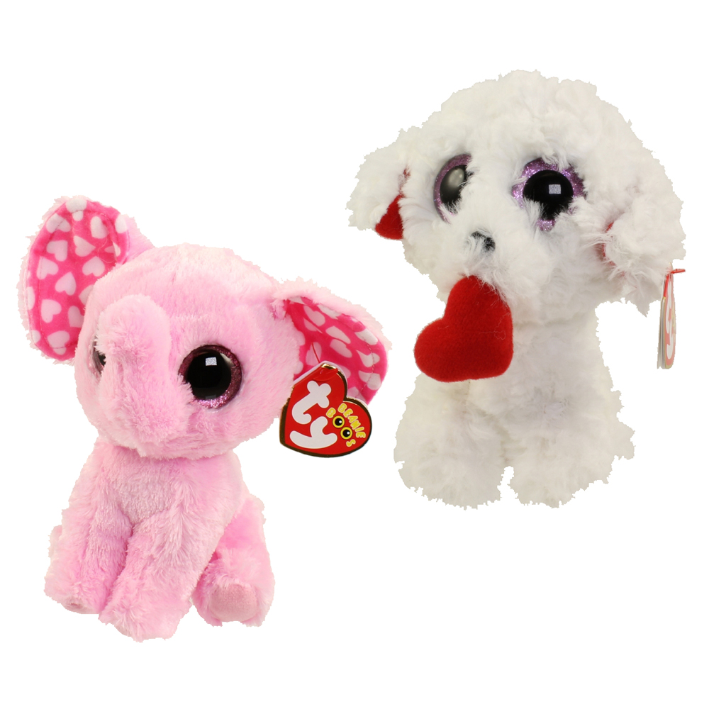 TY Beanie Boos - SET of 2 Valentines 2017 Releases (6 inch) (Honey Bun    Sugar)  BBToyStore.com - Toys 201642284cf