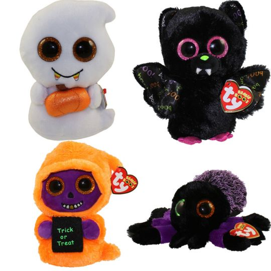 TY Beanie Boos - SET of 4 Halloween 2017 Releases (6 inch) (Creeper ... 987c2e5f338