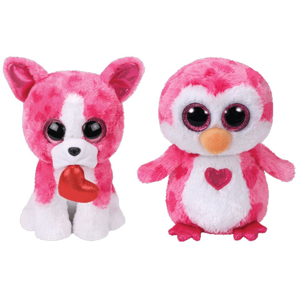 TY Beanie Boos - SET of 2 VALENTINES 2018 Releases (6 inch) (ROMEO & JULIET)