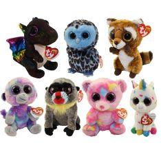 TY Beanie Boos - SPRING 2018 Releases SET of 7 (Regular Size - 6 inch) (Zuri, Yago, Wasabi, Anora &