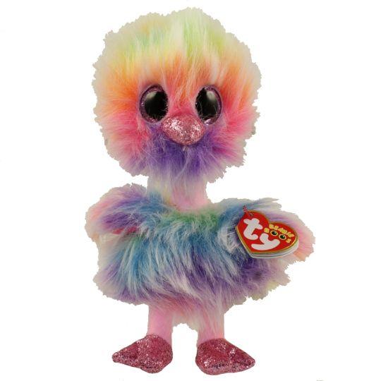 c48fa35d80c7b TY Beanie Boos - ASHA the Rainbow Ostrich (Glitter Eyes)(Regular Size - 6  inch)  BBToyStore.com - Toys