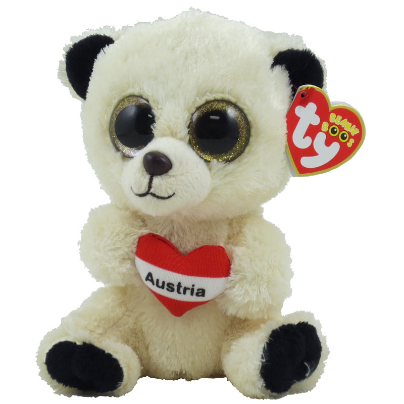 16aabf6968e TY Beanie Boos - AUSTRIA the Bear (Glitter Eyes) (Regular Size - 6