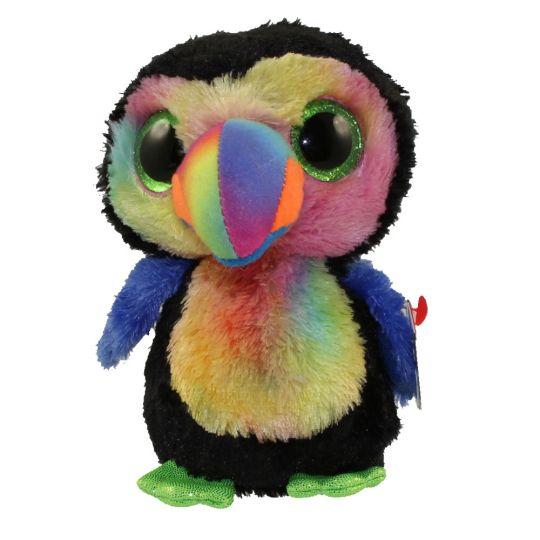 TY Beanie Boos - BEAKS the Toucan (Glitter Eyes) (Regular Size - 6 inch)   BBToyStore.com - Toys 4c5232c29ad