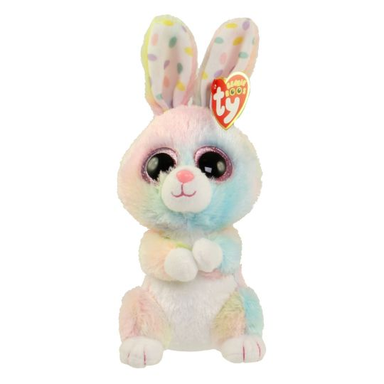 TY Beanie Boos - BUBBY the Bunny (Glitter Eyes) (Regular Size - 6 in)   BBToyStore.com - Toys 9a0c53fd9b5e
