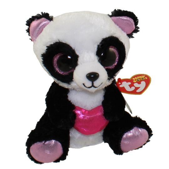 TY Beanie Boos - CUTIE PIE the Panda (Glitter Eyes) (Regular Size - 6  inch)  BBToyStore.com - Toys 9fdf0d57b4ad