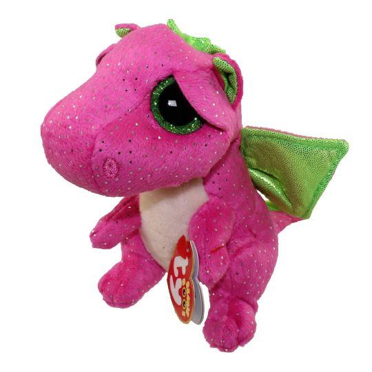 TY Beanie Boos - DARLA the Pink Dragon (Glitter Eyes) (Regular Size - 6  inch)  BBToyStore.com - Toys 243ac9b999f6