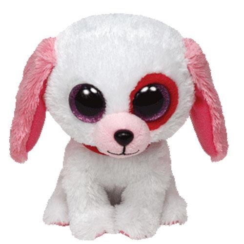 TY Beanie Boos - DARLIN the White Dog (Glitter Eyes) (Regular Size - 6  inch)  BBToyStore.com - Toys 768b2b04d14