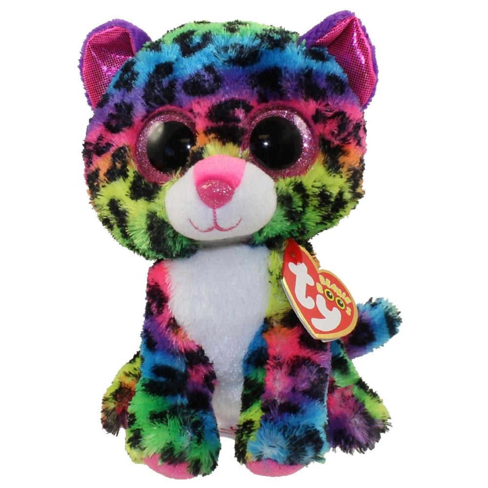 Ty Beanie Boos Dotty The Rainbow Leopard Glitter Eyes Regular