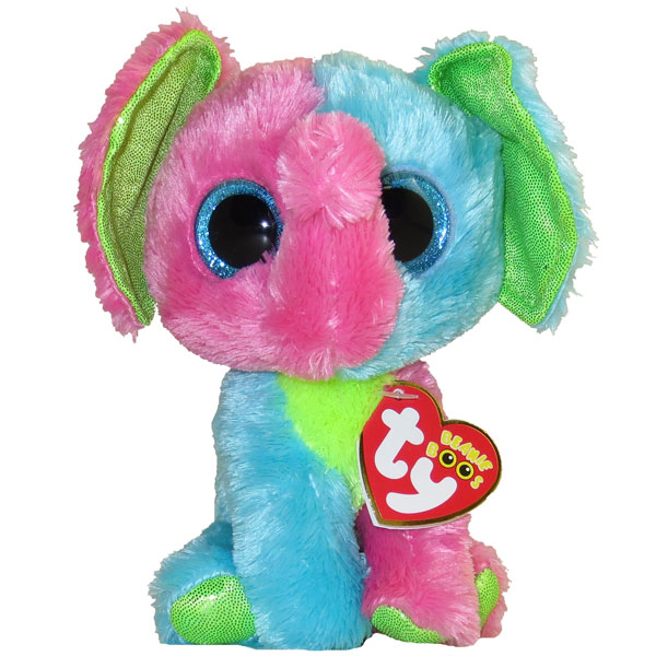 1f122e6a8e0 TY Beanie Boos - ELFIE the Multi-Color Elephant (Glitter Eyes) (Regular  Size - 6 inch)  Limited Excl  BBToyStore.com - Toys