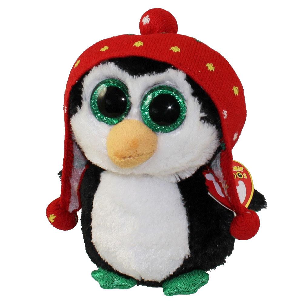 262eab58d03 ty beanie boos freeze the penguin glitter eyes regular size 6 inch  bbtoystorecom toys plush trading