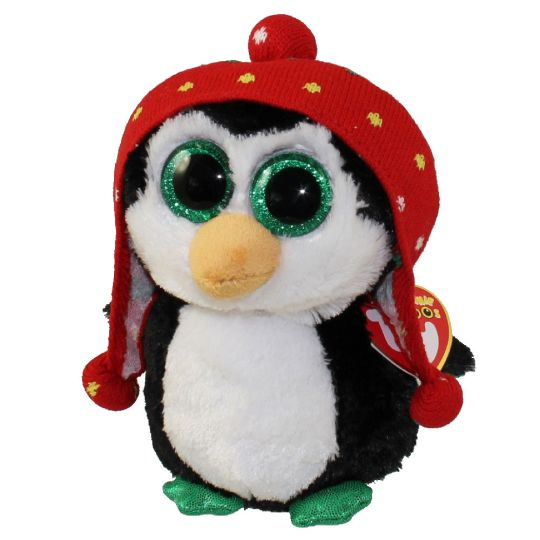 TY Beanie Boos - FREEZE the Penguin (Glitter Eyes) (Regular Size - 6 inch)   BBToyStore.com - Toys 96dafa4a51ec