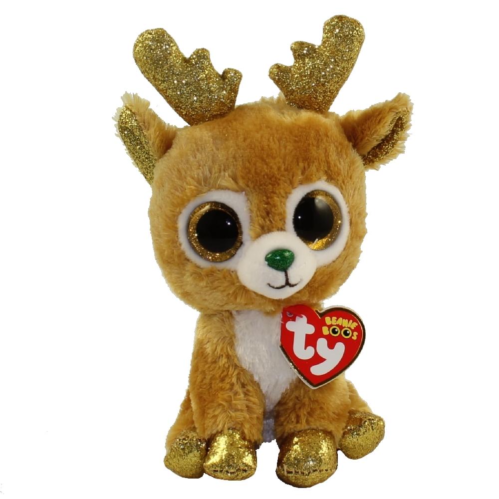 Ty Beanie Boos Glitzy The Reindeer Regular Size 6