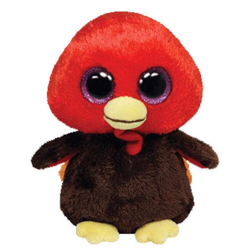 036a4940db8 TY Beanie Boos - GOBBLES the Turkey (Glitter Eyes - 2013 Version)(Regular  Size - 6 inch)  BBToyStore.com - Toys
