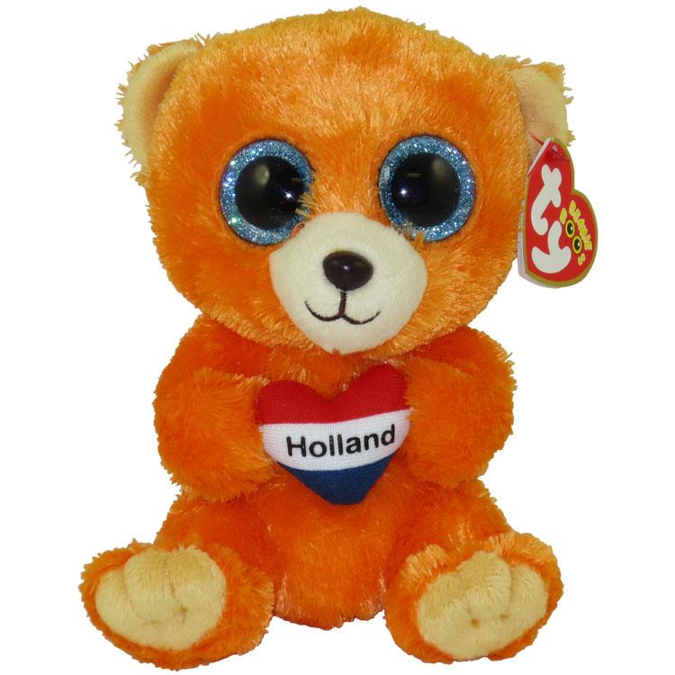 TY Beanie Boos - HOLLAND the Bear (Glitter Eyes) (Regular Size - 6 inch)  (German Exclusive)  BBToyStore.com - Toys 40b2f7eb35d