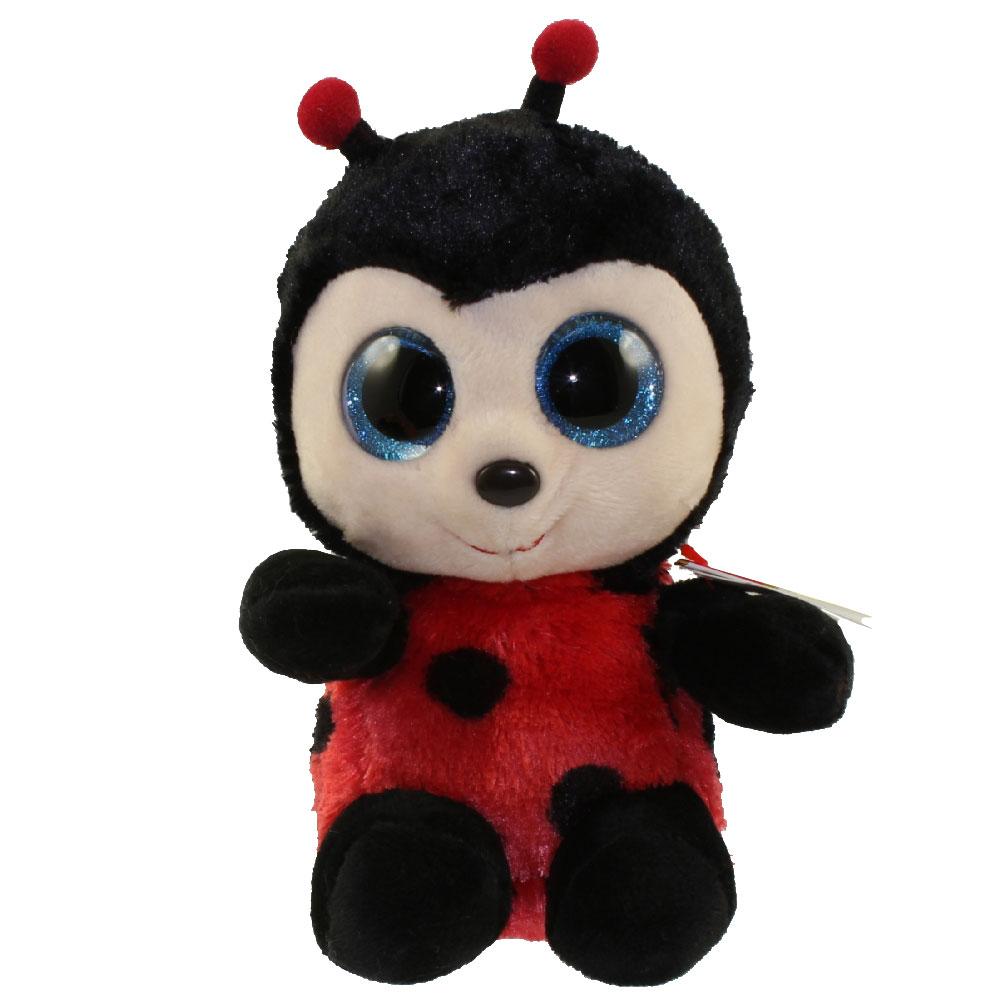 ty beanie boos - izzy the ladybug  glitter eyes   regular size