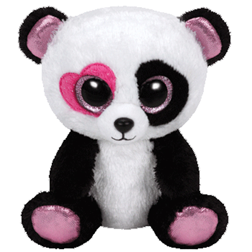 TY Beanie Boos - MANDY the Panda (Glitter Eyes) (Regular Size - 6 inch)   BBToyStore.com - Toys 0cf19f3bca07