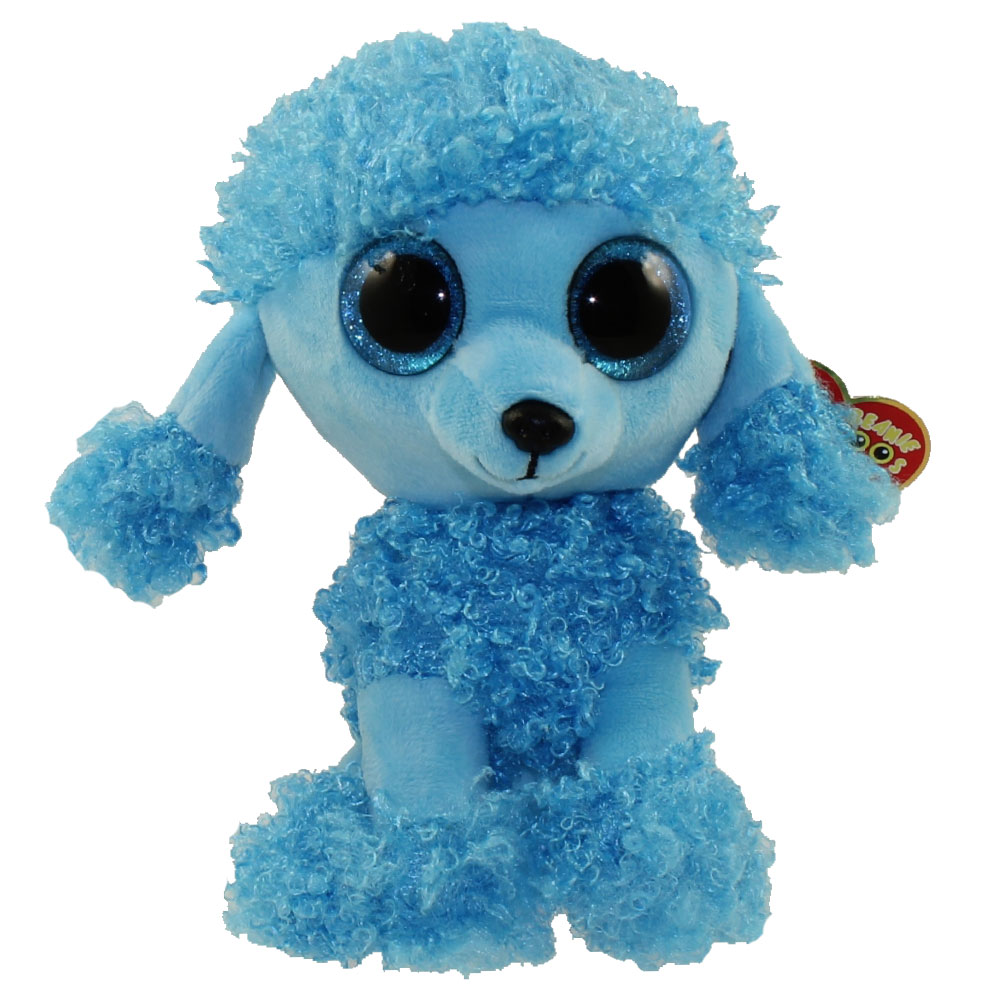 Ty Beanie Boos Mandy The Blue Poodle Glitter Eyes