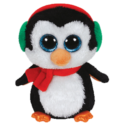 Ty beanie boos north the penguin glitter eyes regular size 6