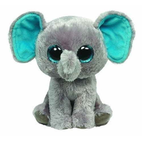 ty beanie boos - peanut the elephant  glitter eyes   regular size