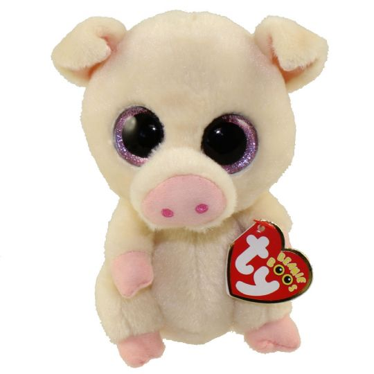 a4541a20b74 TY Beanie Boos - PIGGLEY the Pig (Glitter Eyes) (Regular Size - 6 inch)   1st Version - Cream Color   BBToyStore.com - Toys