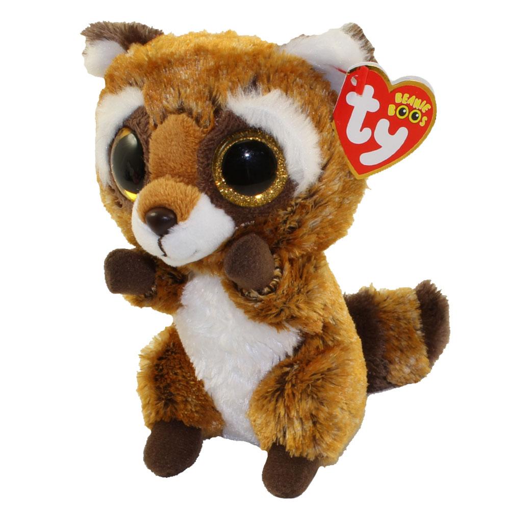 cfb99a00f08 TY Beanie Boos - RUSTY the Raccoon (Glitter Eyes) (Regular Size - 6 inch)   BBToyStore.com - Toys