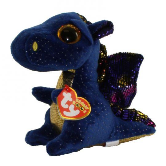 TY Beanie Boos - SAFFIRE the Blue Dragon (Glitter Eyes) (Regular Size - 6  inch)  BBToyStore.com - Toys 157229a20c1a