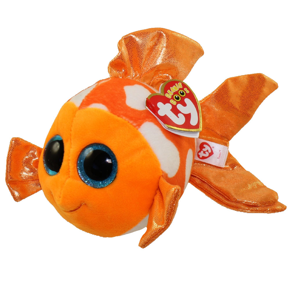 ty beanie boos sami the orange white fish glitter