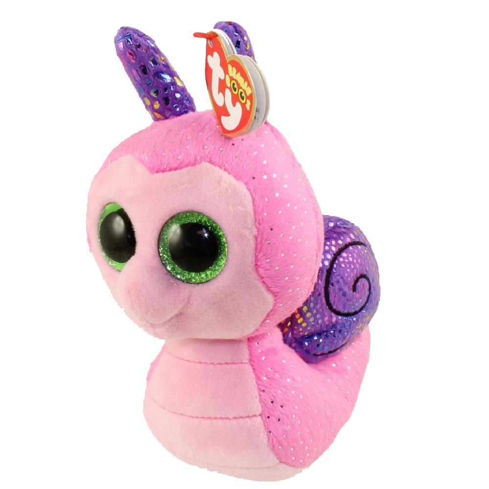 b440a3185b4 ty beanie boos scooter the snail glitter eyes regular size 6 inch bbtoystore  com toys Peek