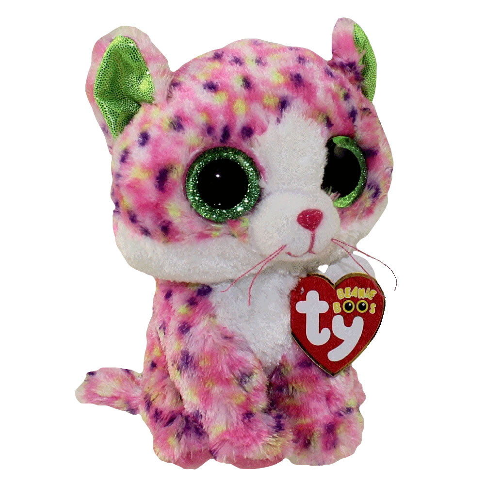 TY Beanie Boos SOPHIE the MultiColor Cat Glitter Eyes