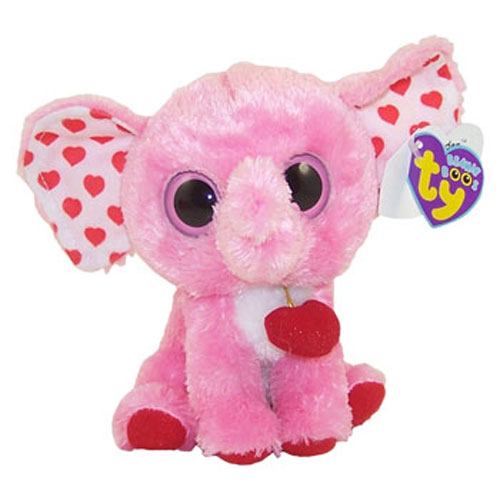 TY Beanie Boos TENDER The Pink Elephant Solid Eye Color
