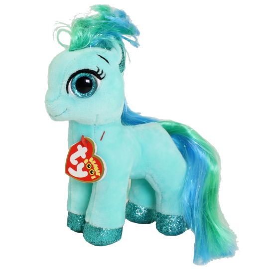 Ty Beanie Boos Topaz The Blue Horse Regular Size 6 Inch