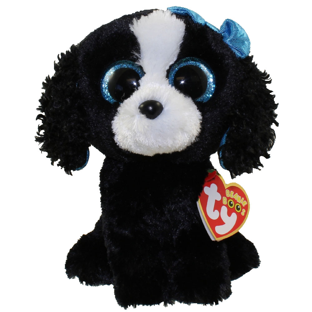 Ty Beanie Boos Tracey The Black Amp White Dog Glitter
