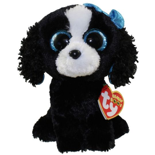543af329d TY Beanie Boos - TRACEY the Black & White Dog (Glitter Eyes) (Regular Size  - 6 inch)