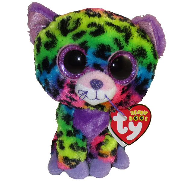 Ty Beanie Boos Trixie The Rainbow Leopard Glitter Eyes Regular