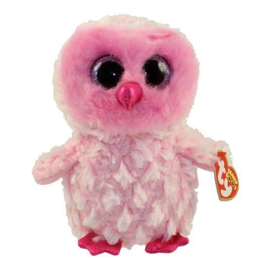 ac52ff93c3a TY Beanie Boos - TWIGGY the Pink Owl (Glitter Eyes) (Regular Size - 6  inch)  BBToyStore.com - Toys