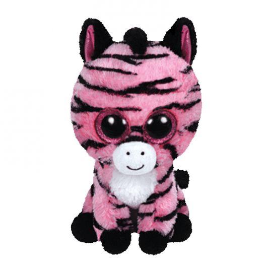 077b4ccfac3 TY Beanie Boos - ZOEY the Pink Zebra (Glitter Eyes) (Regular Size - 6  inch)  BBToyStore.com - Toys