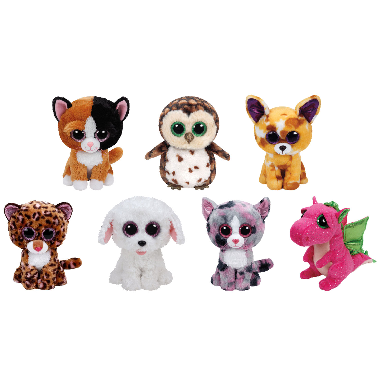 2ad134951d8 TY Beanie Boos - SET of 7 Spring 2016 Releases (Medium - 9 inch)