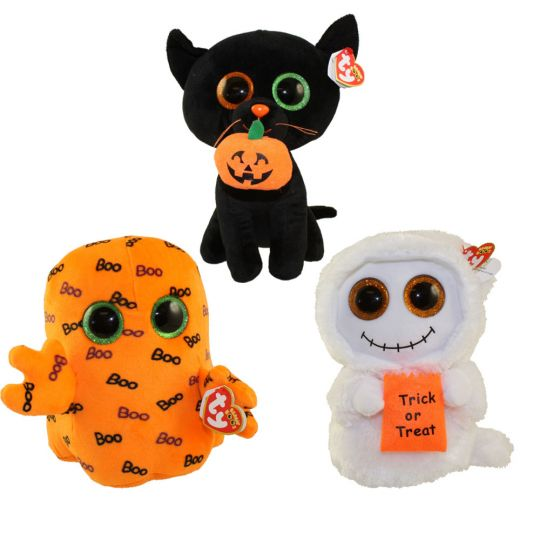 c27f1631232 TY Beanie Boos - SET of 3 Halloween 2016 Releases (Medium - 9 inch) (Mist
