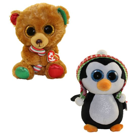 TY Beanie Boos - SET of 2 Christmas 2017 Releases (Medium - 9 inch) (Bella    Penelope)  BBToyStore.com - Toys 334d21852c0