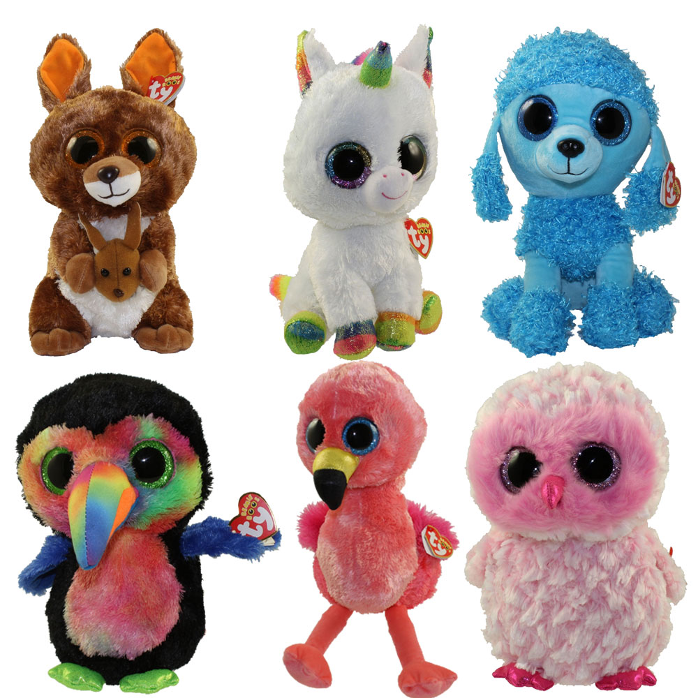 TY Beanie Boos - SET of 6 Fall 2017 Releases (Medium - 9 inch) 448a3eb8eee8