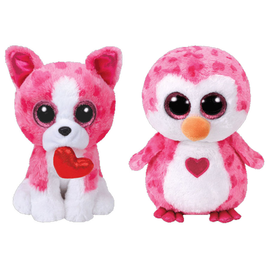 TY Beanie Boos - SET of 2 VALENTINES 2018 Releases (Medium Size - 9 inch) (Pre-Order ships Winter)